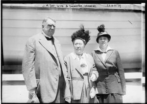 Photograph of James Roscoe Day with his daughter, Imogene, and his wife
