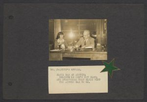 Elsie Kimball and H.C. Jaquith in his office