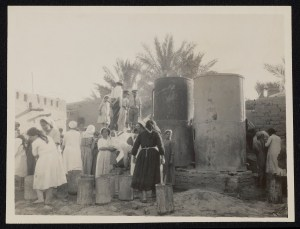 Women at the water supply, Nestorian Refugee camp. Baghdad. June 26, 1927