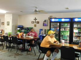 Customers dine on tasty treats at Lorado Grocery. (Stan Morris | NEA Report)