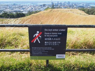 Mt Eden overlooks the city
