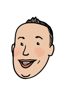 Dave (Useless), cartoon-style