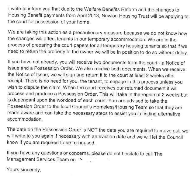 Newlon letter