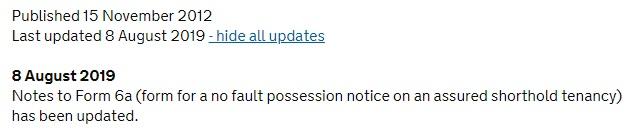 update note