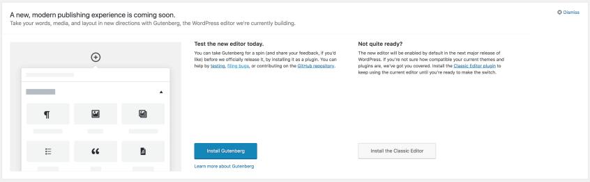 The WordPress 4.9.8 Gutenberg Alert