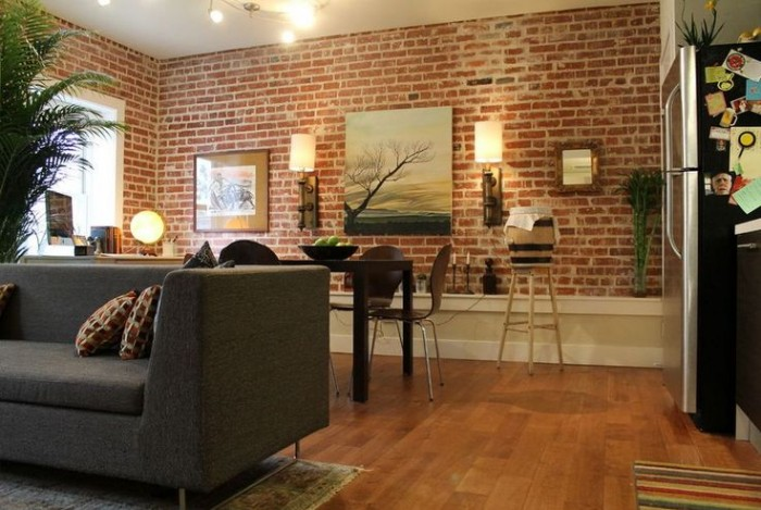 Faux Exposed Brick