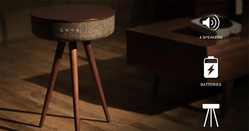 Victrola Bluetooth Wood Speaker Stand