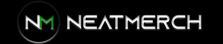 Neatmerch Logo Black Background