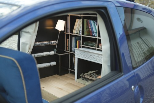 Fireplace On Tv A Cozy Study Inside A Subcompact Car - Neatorama