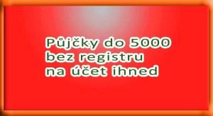 Půjčky do 5000 bez registru na účet ihned