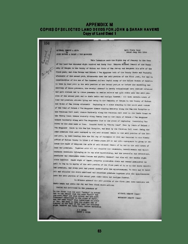Havens Part 3 APPENDIX F MANASQUAN NJ By Trafford Mack  Leslie 1962 An excerpt providing an