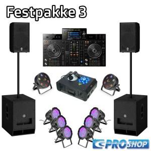 Festpakke 3 (DJ)   12″ top + 15″ sub + XDJ-R1 + LED parlampe 56 +  Flat Storm