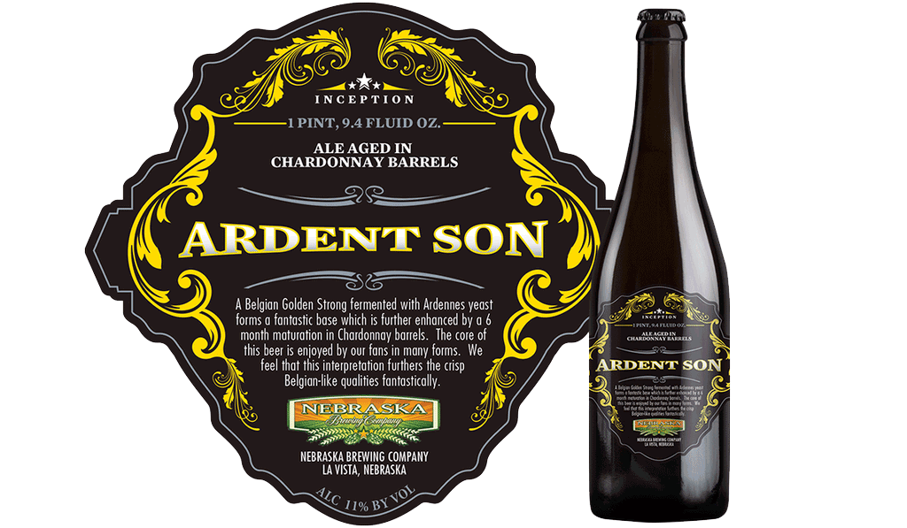 Ardent Son Inception Series beer from Nebraska Brewing Company
