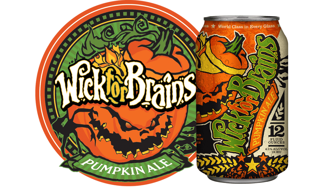 Wick for Brains Pumpkin Ale Assets