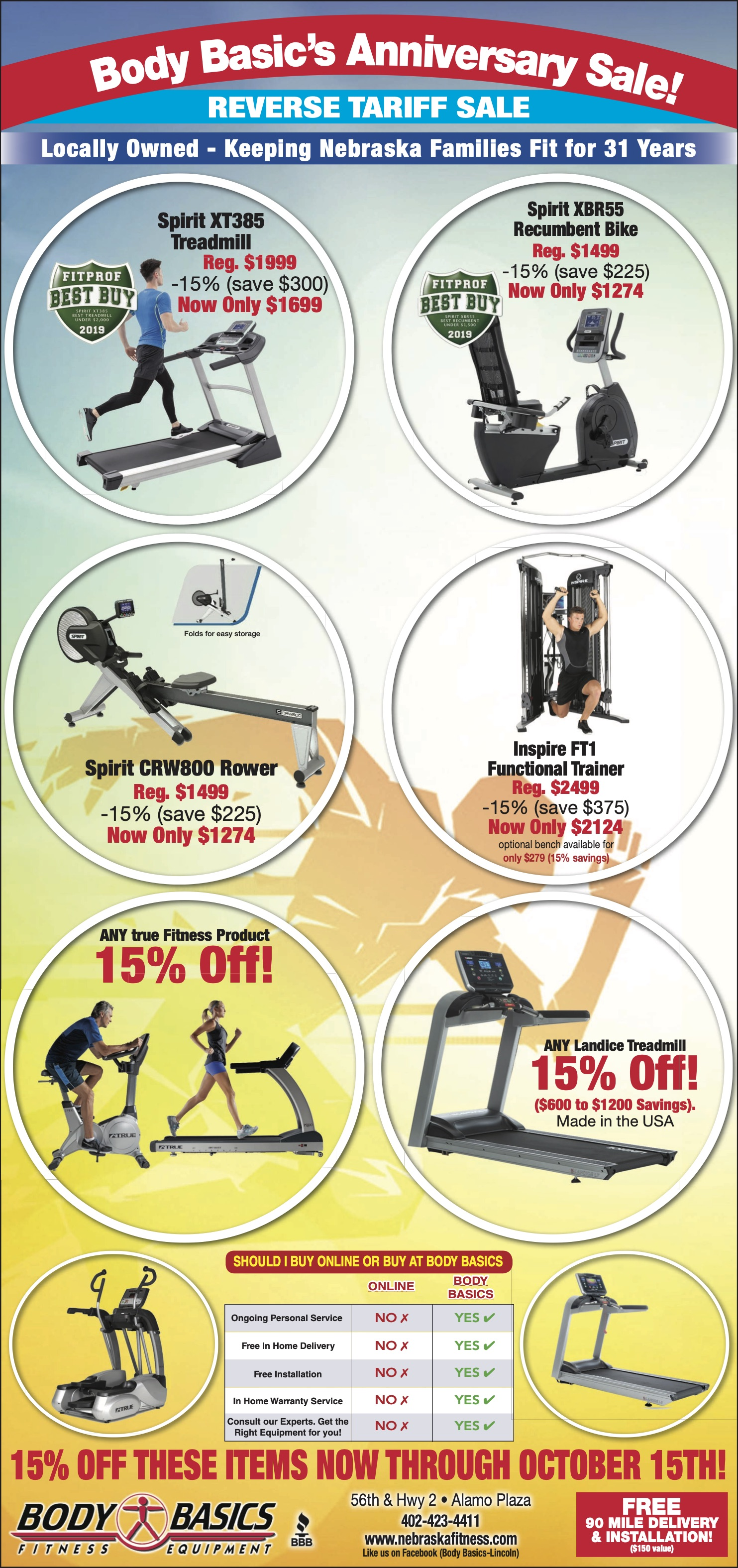 Body Basics Fitness Gear in Lincoln, 5631 S 56th St #1