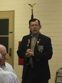 Brother Ed Nolte, Vice President of National Sojourners, Inc., presented several flag talks to the appreciative crowds of veterans at the event.
