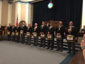 Introduction of the Grand Lodge Officers to Hastings Lodge No. 50.