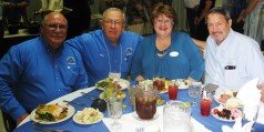 Nebraska attendees at the 2016 Wyoming Master Mason's Banquet. Left to right: R.W. Bob Moninger, W.B. Ron Stites, Liz Ferguson, and W.B. John Ferguson