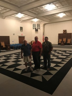 Members of Alliance Lodge were pleased to show their magnificent facility to the GM.
