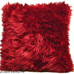 Funky Sofas And Chairs Living Room Facing Each Other Red Faux Fur Pillow (large)   Wicked Elements ...
