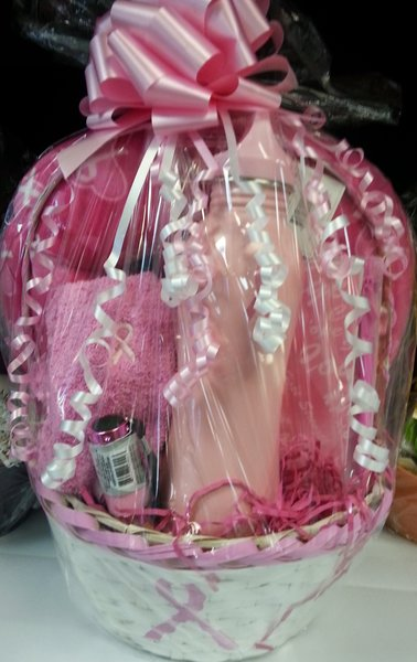 Gift BasketBreast Cancer Awareness Basket  Dylans Unique Gifts  Weddings
