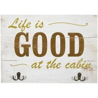 WALL ART-LIFE IS GOOD/CABIN | country cabin decor farm ...