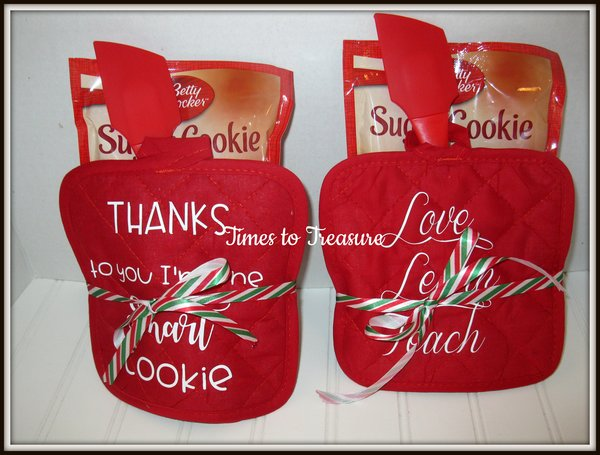 monogrammed oven mitts