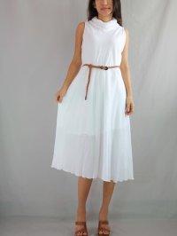 Cute Women Cotton A Shape Knee Length Loose White Summer ...