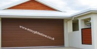 Sectional Electric Garage Door 8x8 Nut Brown | EASYGLIDE ...