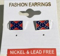 Confederate Flag Post Earrings | DL Grandeurs Confederate ...