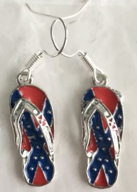 Confederate Flip Flop Earrings | DL Grandeurs Confederate ...