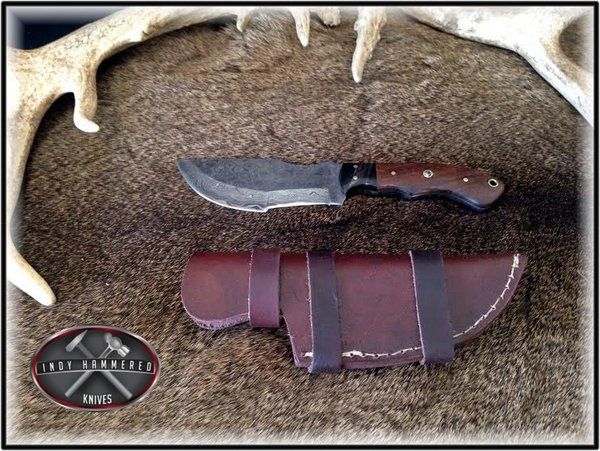 complete outdoor kitchen kits red table damascus tracker knife   indy hammered knives - hand ...