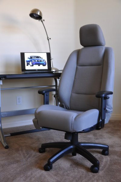 SOLD Thank You  Ford Mustang Cloth Office Chair  Light