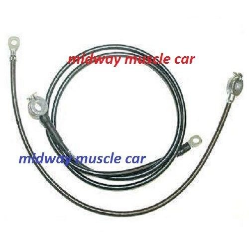 62 Chevy Corvette C2 original Correct BATTERY CABLE Set
