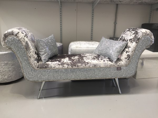 sofa with legs or without sectional under 1000 stunning mercury lustro crushed velvet - silver glitter ...