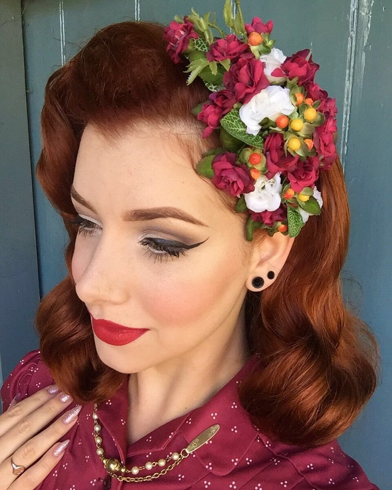Custom Made Hair Flowers Pin Up Hair Flowers Rockabilly