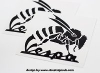 vespa wasp decal , sticker , transfer , graphics various ...