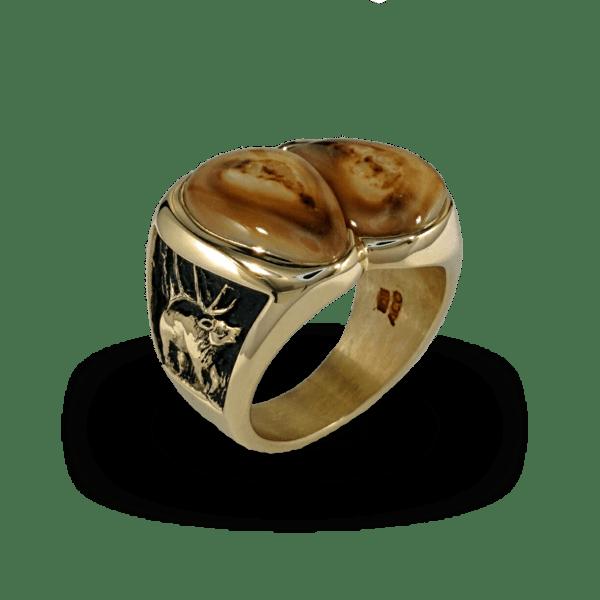 Diamond Elk Ivory Ring Elk Ivory Jewelry