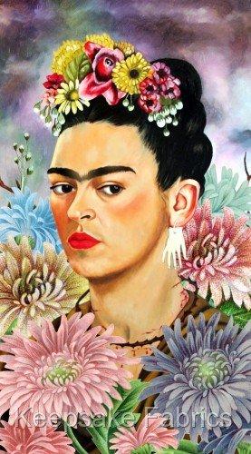 Crazy Girl Wallpaper Frida Kahlo Collage Art Fabric Crazy Quilt Block F3a