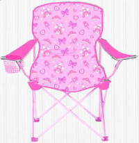 Children Foldable Camping Chair - SIZZLIN COOL PINK ...