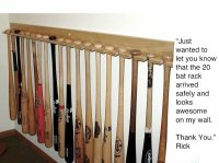 20 Baseball Bat Vertical Display Bat Rack Holder | Stagg ...