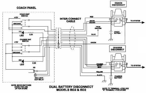 wiring diagram for latching relay 1968 ford f100 intellitec battery disconnect with fuses 01-00055-000 | pdxrvwholesale