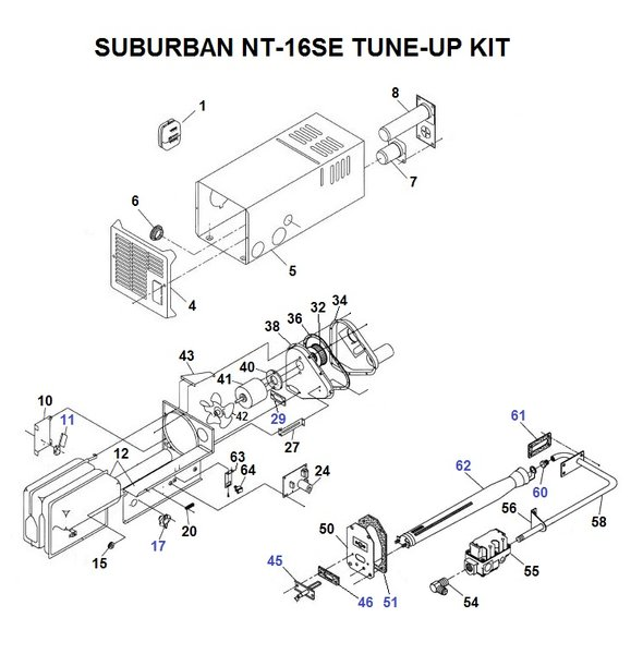 atwood rv furnace parts diagram optronics lights wiring suburban model nt-16se | pdxrvwholesale