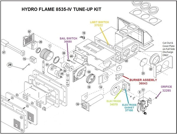 atwood hydro flame furnace parts diagram of a caravel ship model 8535-iv | pdxrvwholesale