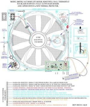 FanTastic Vent Printed Circuit Board w Rain Sensor 9025