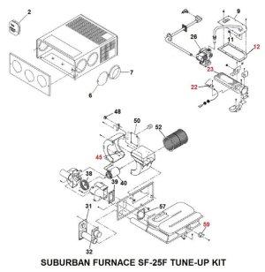 Suburban Furnace Model SF25F TuneUp Kit | pdxrvwholesale