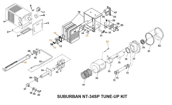 [DIAGRAM in Pictures Database] Suburban Rv Furnace Parts