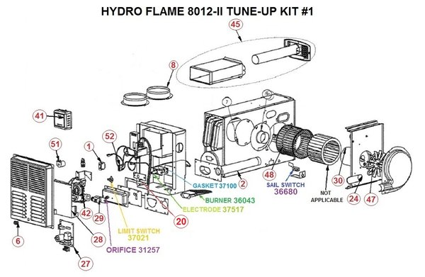 hydro flame furnace wiring diagram double pole single throw switch atwood model 8012-ii parts | pdxrvwholesale