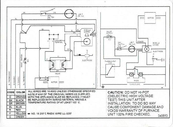 furnace control wiring