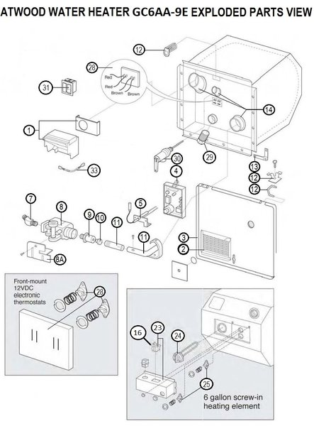 hvac wiring diagram thermostat iron atom atwood water heater model gc6aa-9e parts | pdxrvwholesale